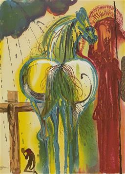 Sale 9108A - Lot 5047 - Salvador Dali (1904 - 1989) - Le Centurion 56 x 36 cm