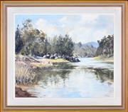 Sale 8349A - Lot 67 - Kenneth Green (1916 - 1973) - The Lachlan River (Near Darbys Falls) 49.5 x 59.5cm