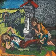 Sale 8561 - Lot 2004 - Thomas Hoareau (1961 - ) - At the Well, 1987 46.5 x 46.5cm