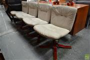 Sale 8511 - Lot 1041 - Set of Four Joe Rufenacht Swivel Chairs