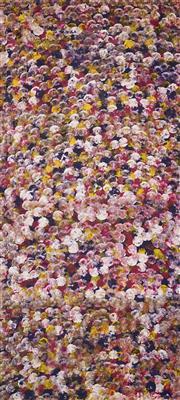 Sale 8565 - Lot 520 - Polly Ngale (c1936 - ) - Bush Plum 197 x 88cm