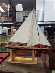 Sale 8593 - Lot 1029 - Pond Yacht On Stand