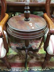 Sale 8657 - Lot 1011 - Smokers Table with Lift Top