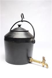 Sale 8701 - Lot 41 - Clarke & Co 3 Gallons Cast Iron Water Fountain with Brass Tap & Lid