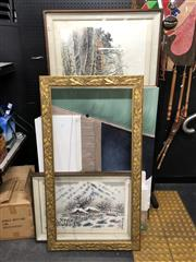 Sale 8789 - Lot 2159 - Collection of Unused Canvas, Frame, 2 Artworks
