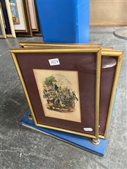 Sale 8895 - Lot 2074 - Set of (4) hand-coloured engravings After Phiz (Hablot K. Browne) illustrations for Charles Dickens