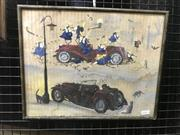 Sale 9024 - Lot 2011 - Artist Unknown Muck-Up Day watercolour and gouache 29 x 37cm (frame) unsigned
