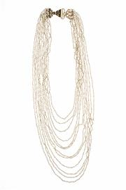 Sale 8373 - Lot 380 - A MULTI STRAND PEARL NECKLACE; 12 strands of seed pearls to silver gilt chain and clasp, 42cm.