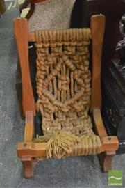 Sale 8383 - Lot 1473 - Timber Rope Chair