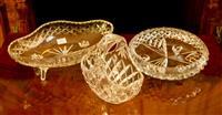 Sale 8392H - Lot 91 - A group of three cut glass bowls, largest D 30cm