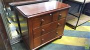 Sale 8402 - Lot 1070 - Late C19th Cedar Chest of Four Drawers on Turned Feet