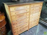 Sale 8495F - Lot 1003 - Large Multi Drawer Collectors Cabinet