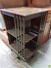 Sale 8576 - Lot 1066 - Edwardian Oak Revolving Bookcase, of two tiers