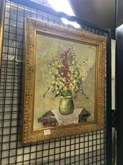 Sale 8711 - Lot 2015 - D A Young - Still Life, Oil on Canvas Board (43 x 38)