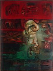 Sale 9053 - Lot 2033 - Bob Haberfield (1938 - ) - Penumbral Organ, 1964 102 x 92 cm