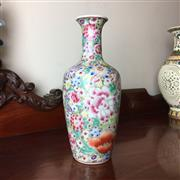 Sale 8795K - Lot 253 - A Chinese floral polychrome vase