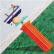 Sale 8870 - Lot 2034 - Carol Dance - Clown Balances Civilisation 61 x 61cm