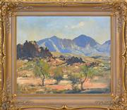 Sale 8374 - Lot 568 - Robert Johnson (1890 - 1964) - Mount Sonder 37.5 x 44.5cm
