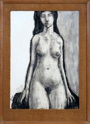 Sale 8427 - Lot 535 - Martin Sharp (1942 - 2013) - Nude, 1962 62.5 x 43.5cm