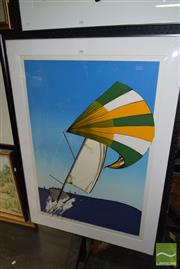 Sale 8506 - Lot 2052 - Jacqui Henwood - My Friend the Wind, screeprint ed. 6/99, frame size 127 x 92cm, signed lower right