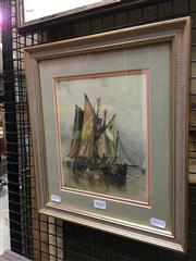 Sale 8750 - Lot 2029 - S.K Reichard - Nautical Scene, watercolour, 35 x 31cm, signed lower left