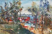Sale 8847 - Lot 524 - Harald Vike (1906 - 1987) - Afternoon Light, Sandgate Brisbane 1985 61 x 91cm