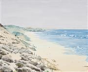 Sale 8773A - Lot 5025 - Jamie Learmonth - Surf Watcher 71 x 86cm