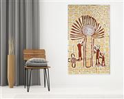 Sale 8895A - Lot 5023 - Ruby Daniels Nungala (1961 - ) - Windmill and Spiritmen 150 x 90 cm (stretched and ready to hang)