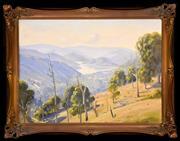Sale 9015J - Lot 7 - Ernest Buckmaster - Silvan Dam 67x88cm