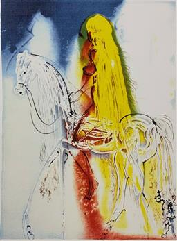 Sale 9108A - Lot 5087 - Salvador Dali (1904 - 1989) - Lady Godiva 56 x 36 cm