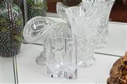 Sale 8348 - Lot 79 - Kosta Boda Signed Art Glass Vase with 2 Others incl Bohemian