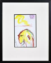 Sale 8382 - Lot 523 - Adam Cullen (1965 - 2012) - Untitled 28 x 19cm