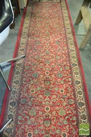 Sale 8431 - Lot 1083 - Red Tone Hall Runner (80 x 300cm)