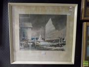 Sale 8513 - Lot 2034 - Townsend, Yacht offset print -