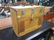 Sale 8601 - Lot 1465 - Timber Fitted Travelling Jewellery Case