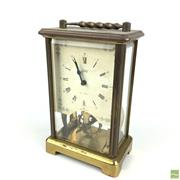 Sale 8649R - Lot 48 - German Brass 8 Day Carriage Clock (H: 13cm)
