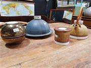 Sale 8684 - Lot 1021 - Derek Smith Ceramics inc Teapot, Cheese Dome, Twin Bowls and Pin Dish (4)