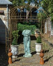 Sale 8745A - Lot 18 - A circular gazebo, approx H 300 x 250cm in diameter