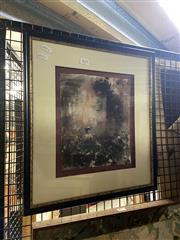 Sale 8891 - Lot 2060 - G. K Townsend - Gathering watercolour, 44 x 40cm, signed lower elft -