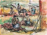 Sale 8941 - Lot 2006 - Artist Unknown (C20th) - Stone Cutters 38 x 50.5 cm