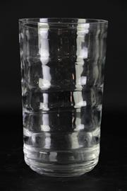 Sale 8985G - Lot 664 - Vintage Studio Glass Optic Vase, Possibly American, H: 21.5cm