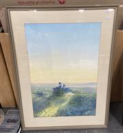 Sale 9004 - Lot 2071 - T Francis Johnson, Early Morning Grosevale, oil on cardboard, 90 x 68cm (frame), artists label verso