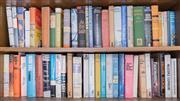 Sale 8486A - Lot 93 - Two shelf lots of books, mainly hardbacks including vintage