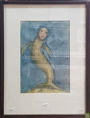 Sale 8595 - Lot 2030 - Catherine Herse - Fishgirl 32 x 22cm