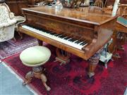 Sale 8728 - Lot 1092 - Richard Lipp & Sohn (Stuttgart) Burr Walnut Baby Grand Piano, having two Royal warrants & serial no. 15639 (finish to one area distr...