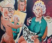 Sale 8822A - Lot 5055 - Pricasso (Tim Patch) (1949 - ) - A Royal Portrait, 2006 (Pricasso at Sexpo) 96.5 x 115.5cm