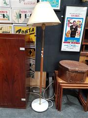 Sale 8908 - Lot 1006 - Teak and Brass Floor Lamp with Marble Base