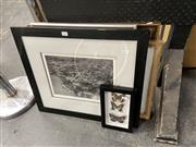 Sale 8906 - Lot 2056 - 4 Prints incl. Norman Lindsay Panqur Ban, Early Potts Point Aerial & Butterflies