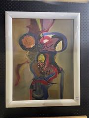 Sale 8924 - Lot 2019 - Artist Unknown Still Life - Flowers in Vaseoil on board, 70 x 54cm, initialled lower right -
