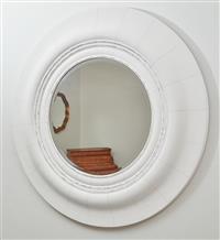 Sale 9090H - Lot 93 - A large bevelled edge circular mirror, Diameter 100cm